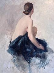 Nude in Blue Linen