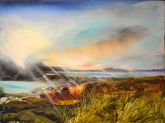 Broadford Bay Skye abstract landscape oil painting