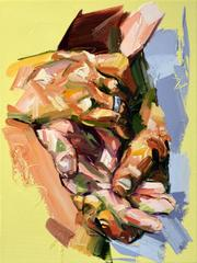 Hand Study abstract oil painting