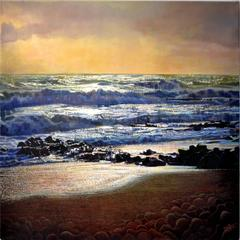 Evening Waves landscape oil painting