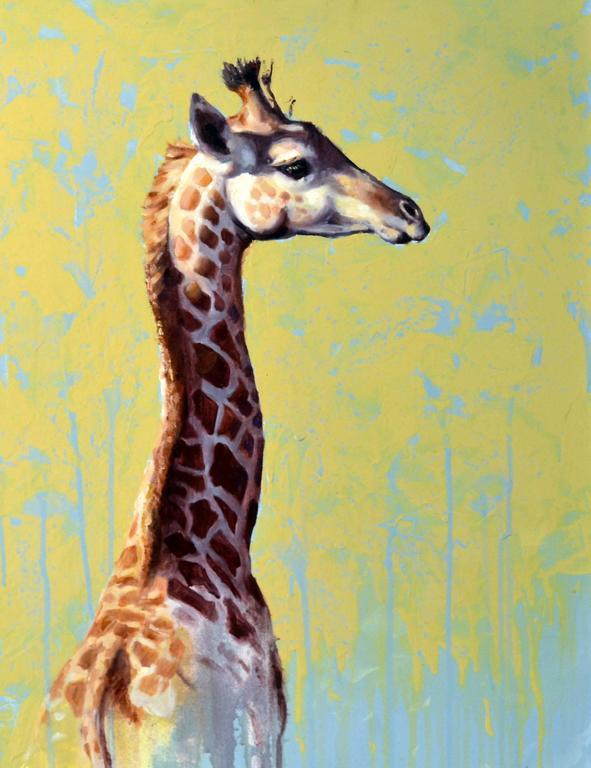 Girafe , African Series oil painting