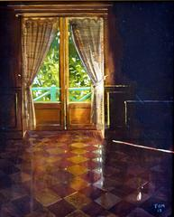 Light Through the Window, Giverny, Monet interior oil painting