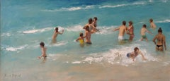 The Beach Figurative landscape oil painting