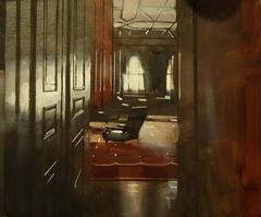 Room with the Chair interior  oil painting