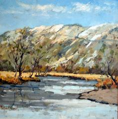 Rydal Water in Winter landscape painting