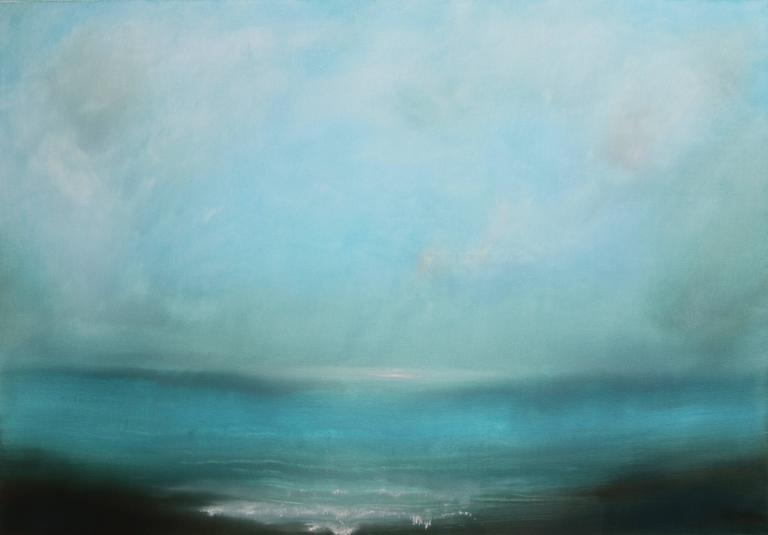 Aqua Seas abstract landscape painting