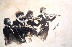 String Section II  abstract figurative painting