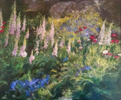Garden  abstract landscape painting