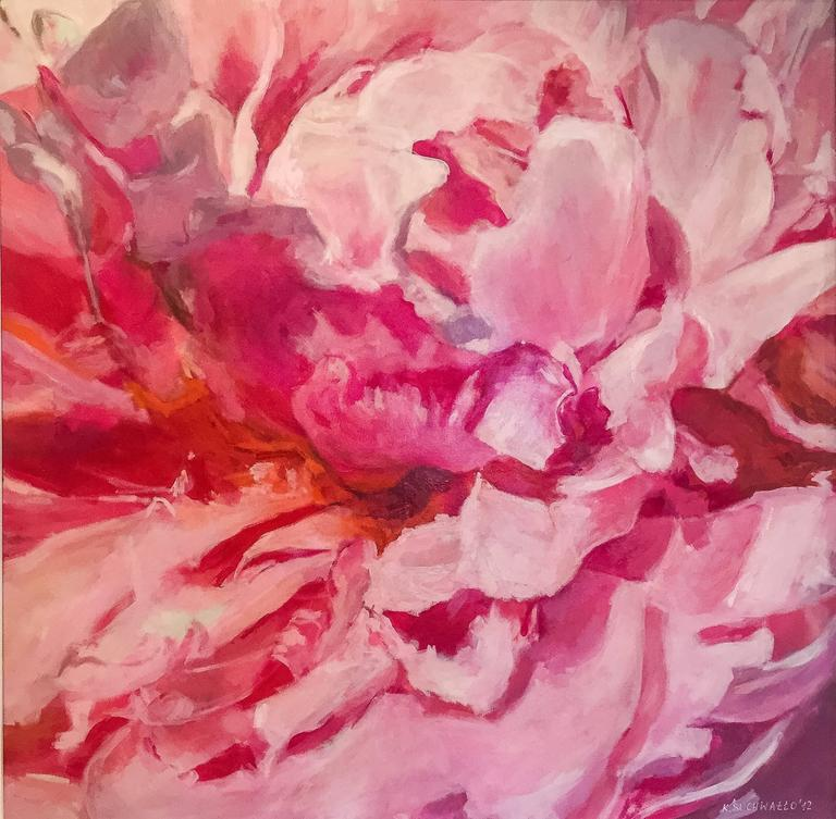 Flower, Pink II  abstract still life painting