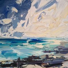 Cornish Blue Abstract Seascape Painting