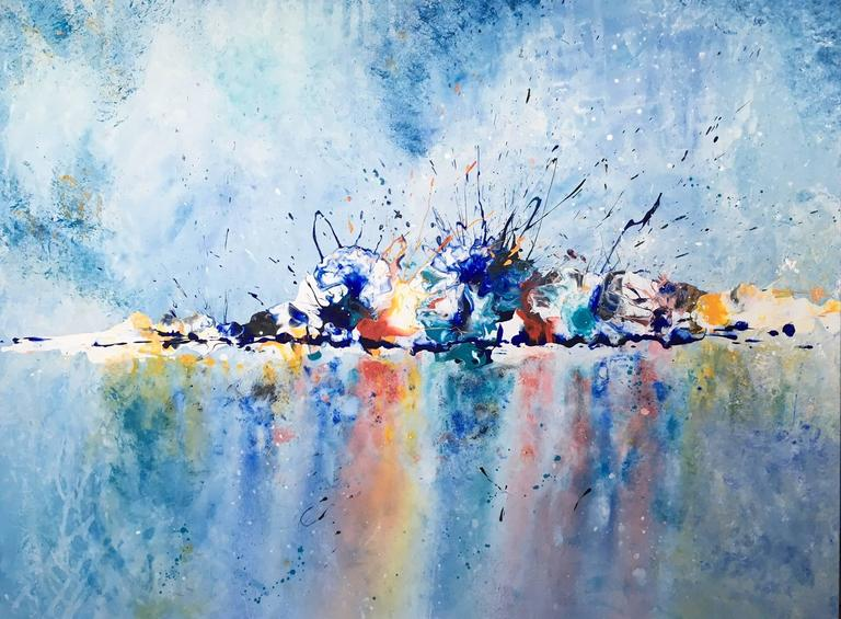 vita james color explosion abstract painting painting at 1stdibs