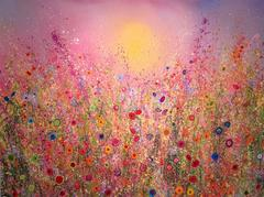 Champagne Love Abstract Landscape Painting