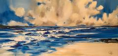 Wide open Bay abstract landscape painting