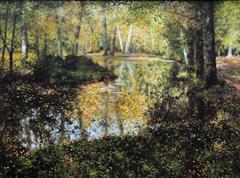 Forest Glow Landscape Painting