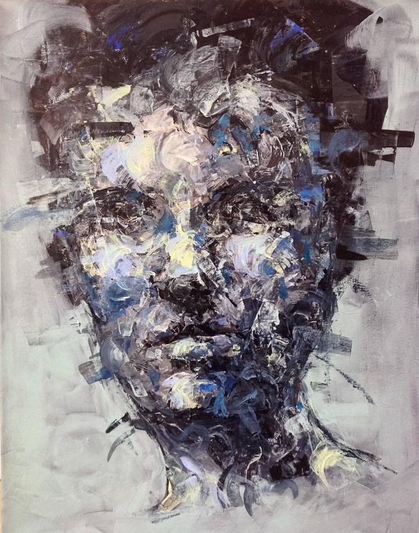 Studio I Abstract Portrait Painting