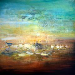 Wyre Wonder I abstract landscape painting