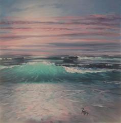 Sunset Breakers Original Oil Painting