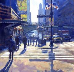 Winter Morning Light, Grand Central Station original painting