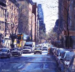 Early Morning Greenwich Village  original cityscape painting