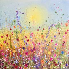 Mysterious Meadows abstract landscape painting