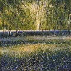 Blue Sky & Bluebells Original Landscape Painting