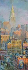 Cryslr Lights oliginal city painting