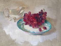 Grapes and Silver original still life painting