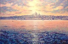 Evening Light Malta  original Oil painting