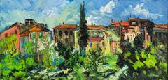 The French Village original landscape painting