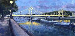Albert Bridge Lights original landscape painting