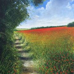 Poppy Field  original landscape painting