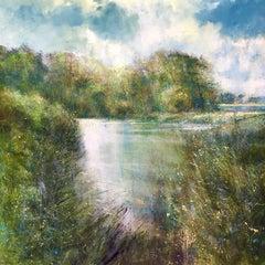 River Tranquility original landscape painting