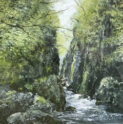 Fairy Glen Wales original painting