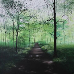 Time stand Still  Woodland  original Landscape painting
