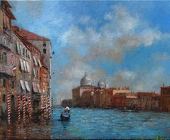 A Sparkle on the Grand Canal original landscape painting