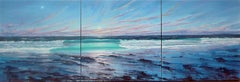 Triptych Atlantic Breakers  original landscape painting