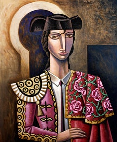 Tio pepe y Sardines original cubism  painting