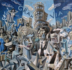 Gran Via original cubism painting