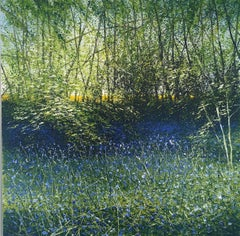 Bluebells and Yellow Ripe Original landscape painting
