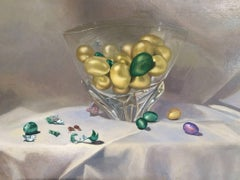 Easter  original realism still life painting