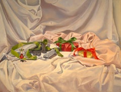 Christmas Wrapping original realism painting