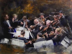 String Section III original figurative painting