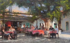 the Art of Conversation original figurative painting