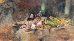 The Market II original painting