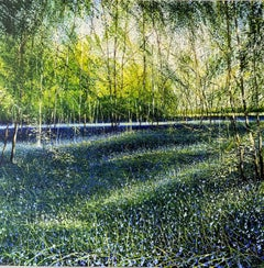 Bluebells original landscape painting