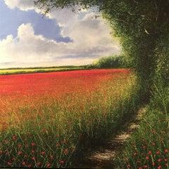 Poppy Filed original landscape painting