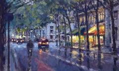 Evening Cofee paris original city landscape painting