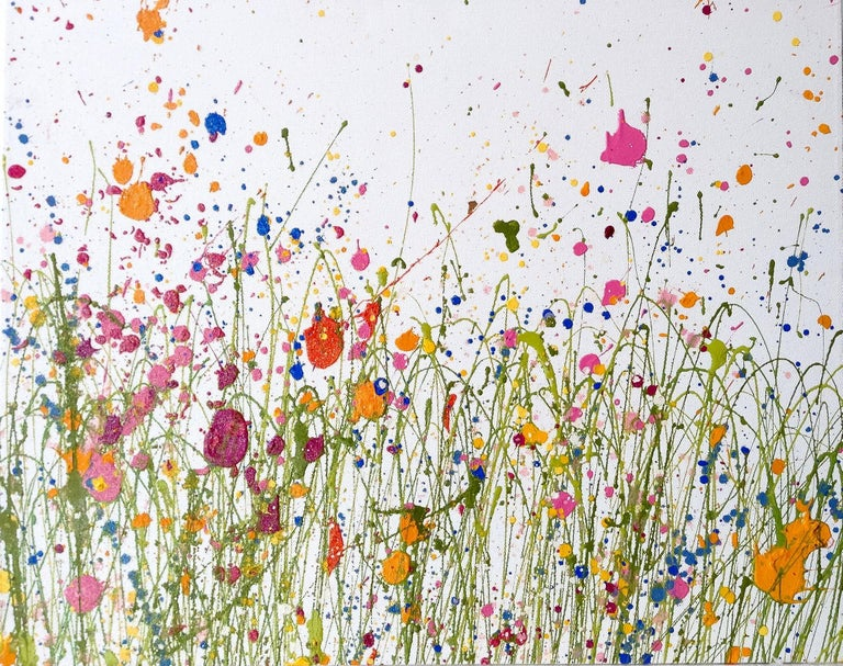 Meadow dance original abstract landscape painting