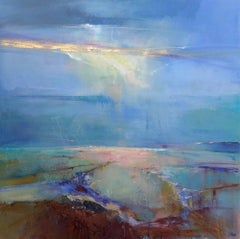 Looking Far original abstract landscape painting