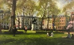 St James Park London original city landscape painting